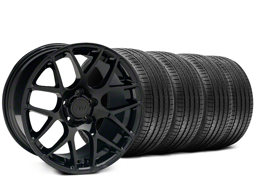 Staggered AMR Black Wheel & Sumitomo Tire Kit - 18x9/10 (94-98 All)