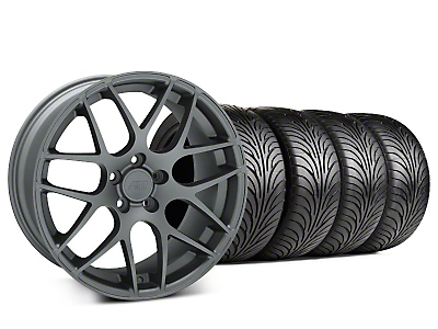 Staggered AMR Charcoal Wheel & Sumitomo Tire Kit - 18x9/10 (99-04)