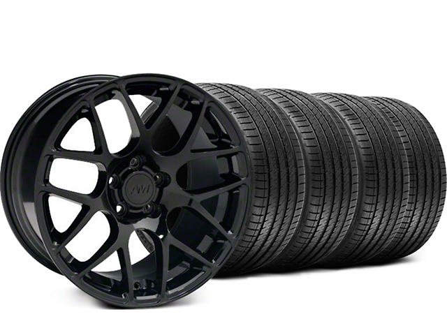 Staggered AMR Black Wheel & Sumitomo Tire Kit - 18x9/10 (99-04 All)