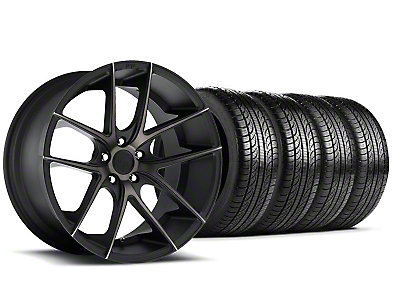 Staggered Niche Targa Black Wheel & Pirelli Tire Kit - 19x8.5/9.5 (05-14 All)