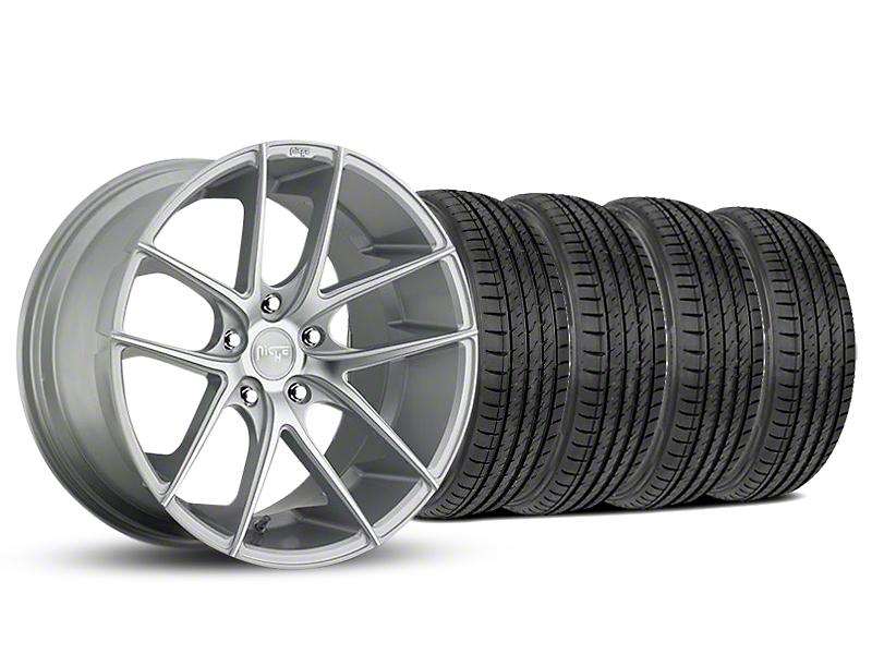 Staggered Niche Targa Matte Silver Wheel & Sumitomo Tire Kit - 19x8.5/9.5 (05-14 All)