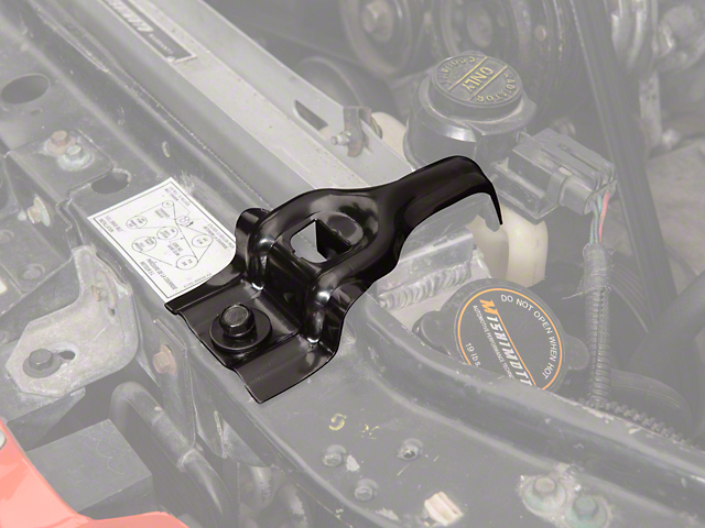 OPR Upper Radiator Support Brackets - Black (87-93 5.0L)