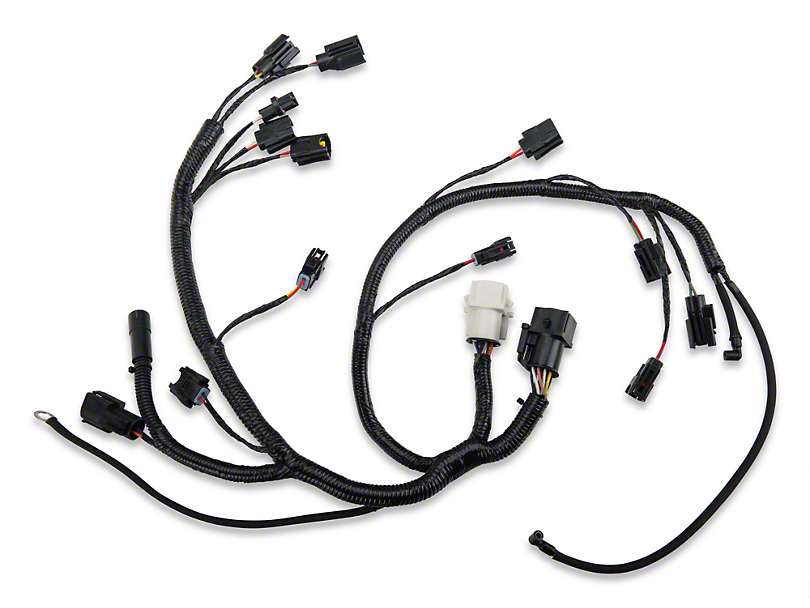 opr mustang fuel injector wiring harness 100628  87