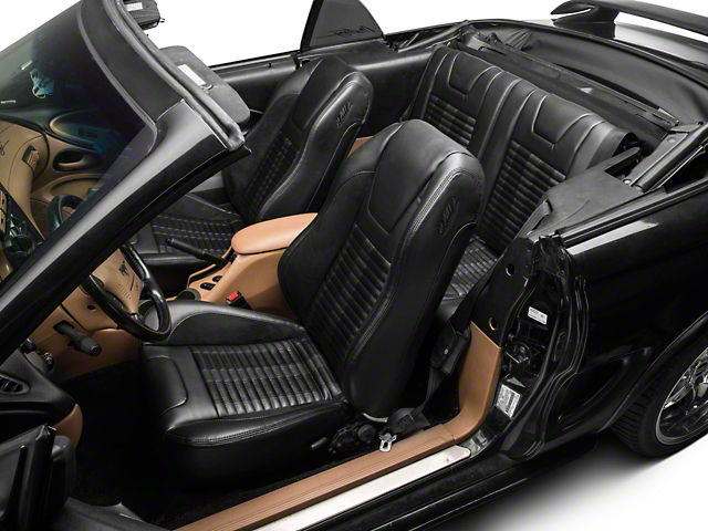 TMI Premium Sport R500 Upholstery & Foam Kit - Black Vinyl & Black Stripe/Stitch (94-98 All)