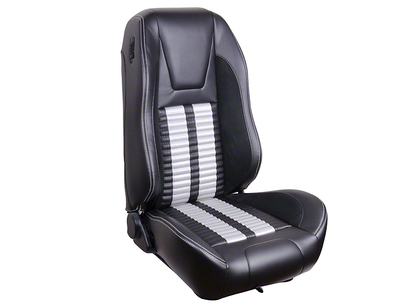 TMI Premium Sport R500 Upholstery & Foam Kit - Black Vinyl & White Stripe/Stitch (99-04 All)