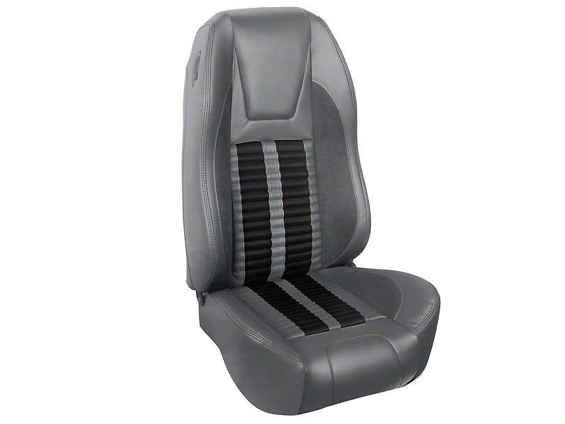TMI Premium Sport R500 Upholstery & Foam Kit - Gray Vinyl & Black Stripe/Stitch (94-98 All)