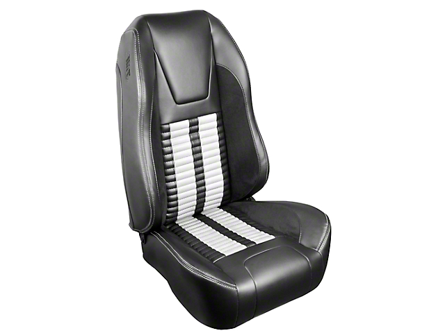 TMI Premium Sport R500 Upholstery & Foam Kit - Gray Vinyl & White Stripe/Stitch (99-04 All)