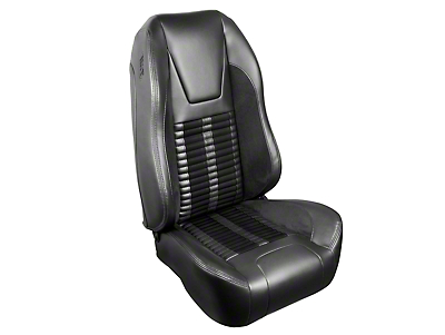 TMI Premium Sport R500 Upholstery & Foam Kit - Gray Vinyl & Black Stripe/Stitch (99-04 All)