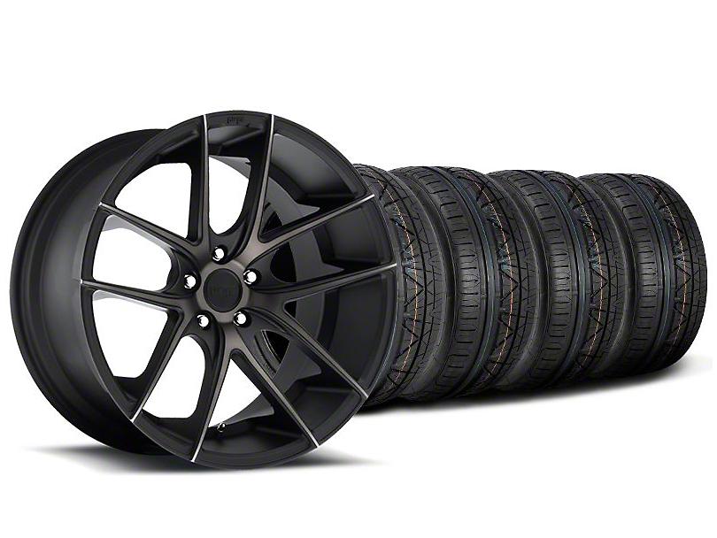 Staggered Niche Targa Black Wheel & NITTO INVO Tire Kit - 19x8.5/9.5 (05-14 All)