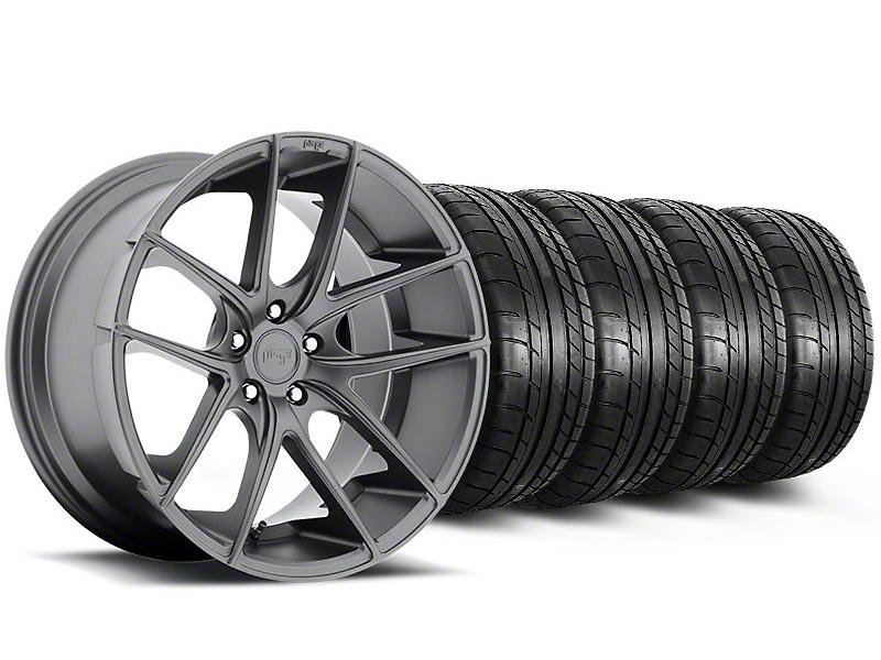 Staggered Niche Targa Anthracite Wheel & Mickey Thompson Tire Kit - 19x8.5/9.5 (05-14 All)