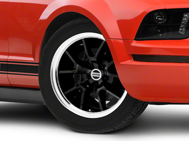 Deep Dish FR500 Style Black Wheel; Rear Only; 18x10 (05-09 All)