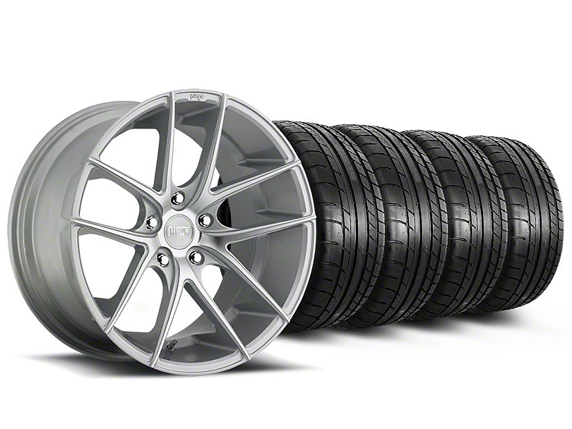 Staggered Niche Targa Matte Silver Wheel and Mickey Thompson Tire Kit; 19x8.5/9.5 (05-14 All)