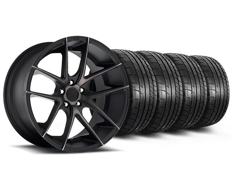Staggered Niche Targa Black Wheel & Mickey Thompson Tire Kit - 19x8.5/9.5 (05-14 All)