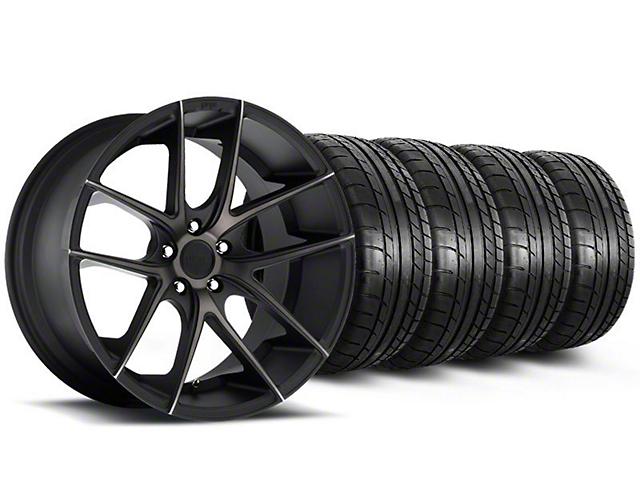 Staggered Niche Targa Black Wheel and Mickey Thompson Tire Kit; 19x8.5/9.5 (05-14 All)