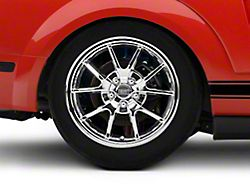Deep Dish FR500 Style Chrome Wheel; Rear Only; 18x10 (05-09 All)
