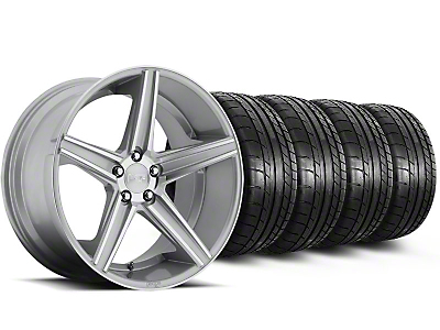 Staggered Niche Apex Machined Silver Wheel & Mickey Thompson Tire Kit - 20x8.5/10 (05-14 All)