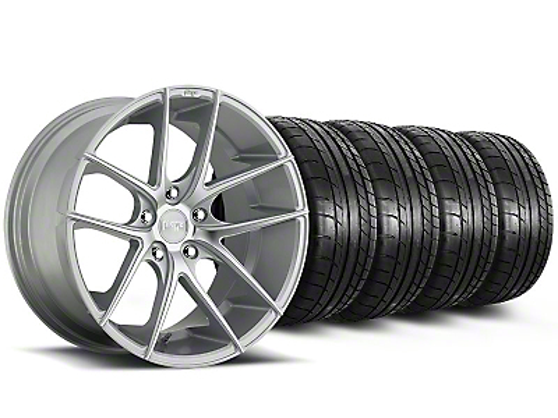 Staggered Niche Targa Matte Silver Wheel & Mickey Thompson Tire Kit - 20x8.5/10 (05-14 All)