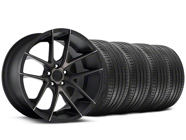 Staggered Niche Targa Black Wheel & Sumitomo Tire Kit - 20x8.5/10 (05-14 All)