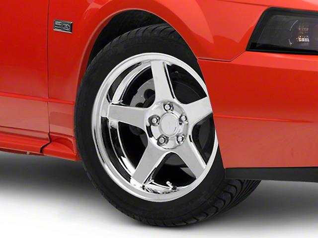 Deep Dish 2003 Cobra Style Chrome Wheel; 17x9 (99-04 All)
