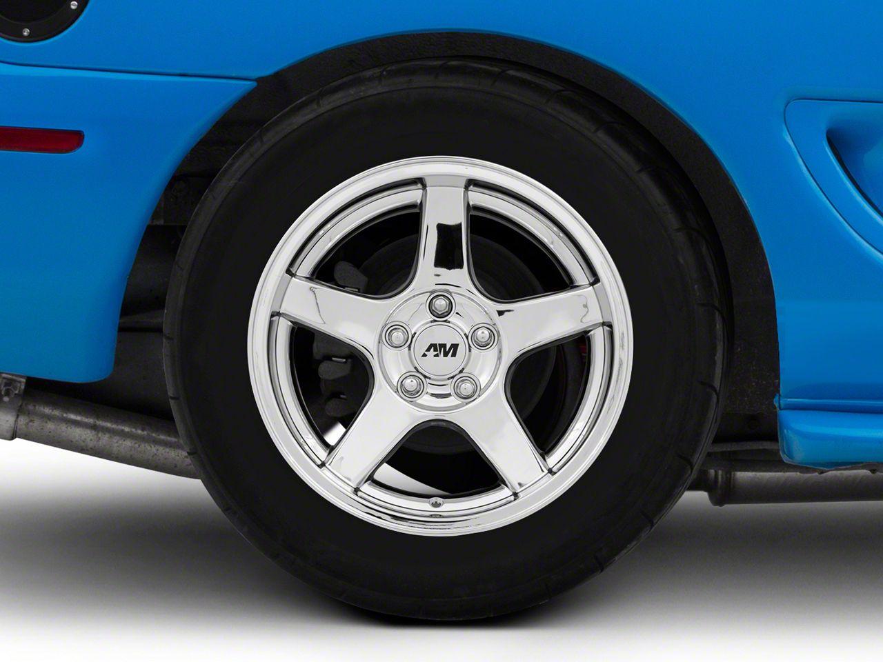 Deep Dish 2003 Cobra Style Chrome Wheel - 17x10.5 - Rear Only (94-04 All)