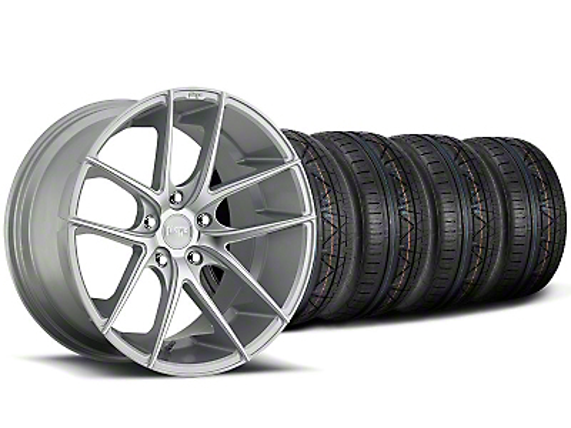 Staggered Niche Targa Matte Silver Wheel & NITTO INVO Tire Kit - 20x8.5/10 (05-14 All)