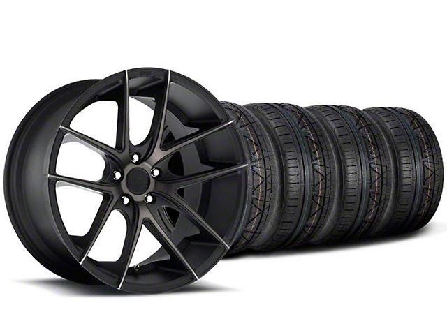 Staggered Niche Targa Black Wheel & NITTO INVO Tire Kit - 20x8.5/10 (05-14 All)