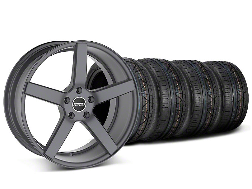 Staggered MMD 551C Charcoal Wheel and NITTO INVO Tire Kit; 20x8.5/10 (05-14 All)