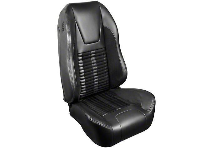 TMI Premium Sport R500 Upholstery & Foam Kit - Black Vinyl & Black Stripe/Stitch (99-04 GT, V6)