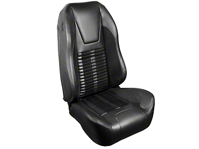 TMI Premium Sport R500 Upholstery & Foam Kit - Black Vinyl & Black Stripe/Stitch (99-04 All)