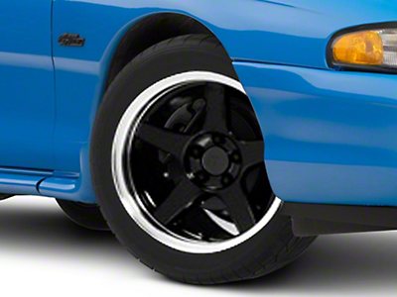 Deep Dish 2003 Cobra Style Black Wheel - 17x9 (94-04 All)