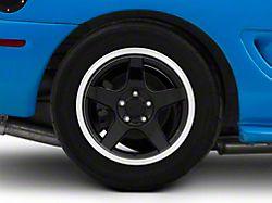 Deep Dish 2003 Cobra Style Black Wheel; Rear Only; 17x10.5 (94-98 All)
