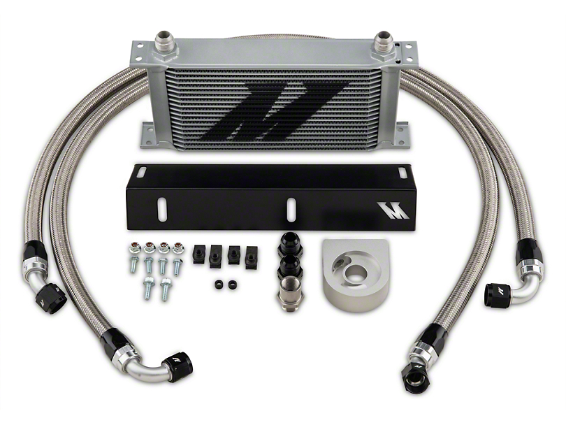 Mishimoto Direct-Fit Performance Oil Cooler - Silver (79-93 5.0L)