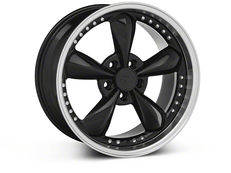 Bullitt Motorsport Black Wheel; 18x9 (87-93 w/ 5 Lug Conversion)