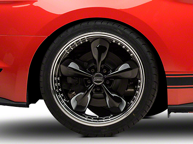 Bullitt Motorsport Black Wheel - 20x10 - Rear Only (15-19 EcoBoost, V6)