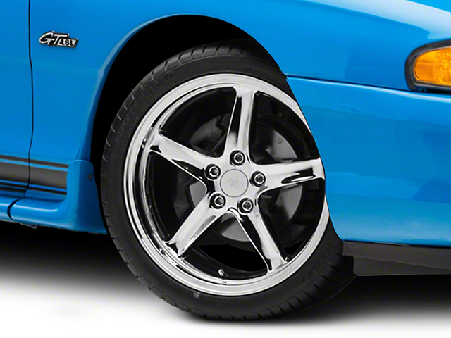 Deep Dish 1995 Cobra R Style Chrome Wheel - 18x9 (94-04 All)