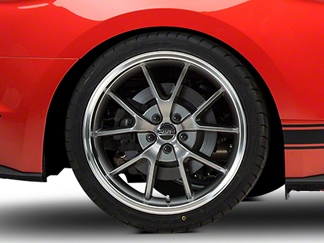 FR500 Style Anthracite Wheel; 20x10; Rear Only (15-20 GT, EcoBoost, V6)