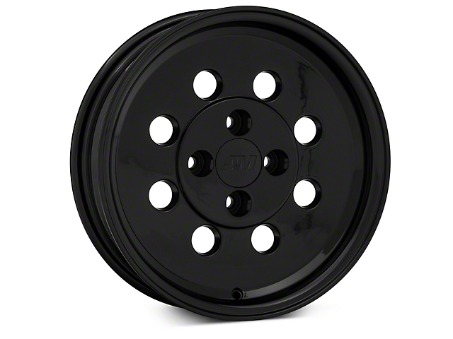 Classic Drag Black Wheel; Front Only; 15x4 (79-93 All, Excluding Cobra)