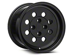 Classic Drag Black Wheel; Rear Only; 15x10 (79-93 All, Excluding Cobra)