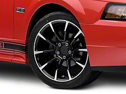 11/12 GT/CS Style Black Machined Wheel; 18x9 (99-04 All)