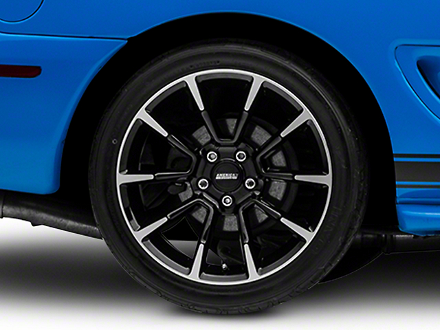 11/12 GT/CS Style Black Machined Wheel - 18x10 - Rear Only (94-04 All)