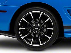 11/12 GT/CS Style Black Machined Wheel; Rear Only; 18x10 (94-98 All)