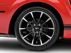 11/12 GT/CS Style Gloss Black Machined Wheel; Rear Only; 18x10 (99-04 All)