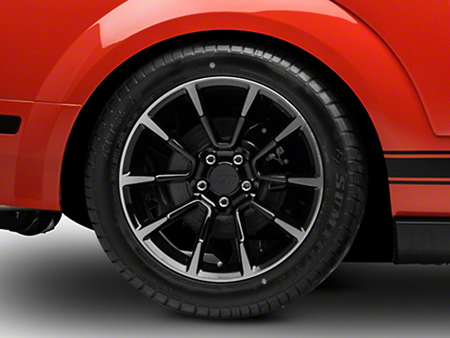 11/12 GT/CS Style Black Machined Wheel; Rear Only; 18x10 (05-09 GT, V6)
