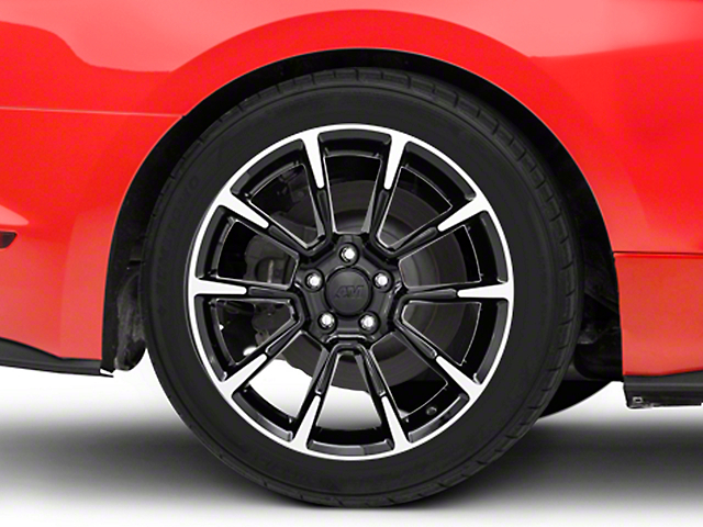 11/12 GT/CS Style Black Machined Wheel - 18x10 (15-18 Ecoboost, V6)
