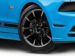 11/12 GT/CS Style Black Machined Wheel; 19x8.5 (10-14 All)
