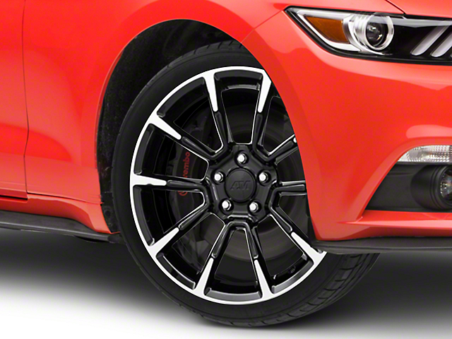 11/12 GT/CS Style Black Machined Wheel - 19x8.5 (15-17 All)