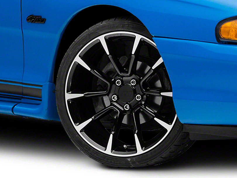 11/12 GT/CS Style Black Machined Wheel - 19x8.5 (94-04 All)