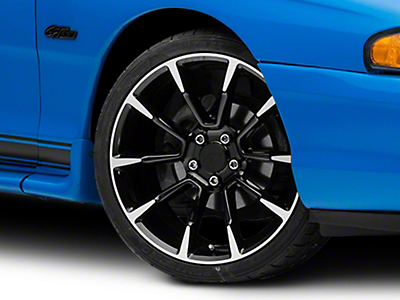 11/12 GT/CS Style Black Machined Wheel - 19x8.5 (94-04 All)
