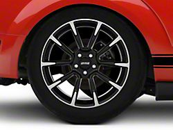 11/12 GT/CS Style Black Machined Wheel; Rear Only; 19x10 (05-09 All)