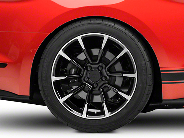 11/12 GT/CS Style Black Machined Wheel - 19x10 - Rear Only (15-19 GT, EcoBoost, V6)